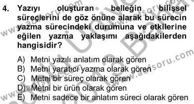 Türkçe Yazılı Anlatım Dersi 2012 - 2013 Yılı Ara Sınavı 4. Soru