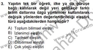 Türkçe Yazılı Anlatım Dersi 2012 - 2013 Yılı (Final) Dönem Sonu Sınav Soruları 3. Soru
