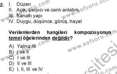 Türkçe Yazılı Anlatım Dersi 2013 - 2014 Yılı Dönem Sonu Sınavı 2. Soru