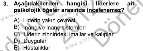 Diş Politika Analizi Dersi 2012 - 2013 Yılı Dönem Sonu Sınavı 3. Soru