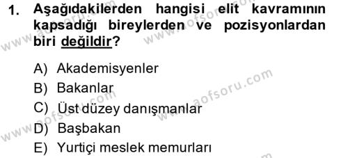 Diş Politika Analizi Dersi 2014 - 2015 Yılı Ara Sınavı 1. Soru