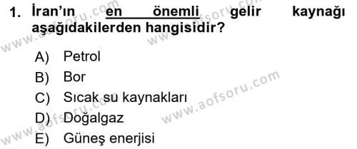 Diş Politika Analizi Dersi 2015 - 2016 Yılı (Final) Dönem Sonu Sınav Soruları 1. Soru