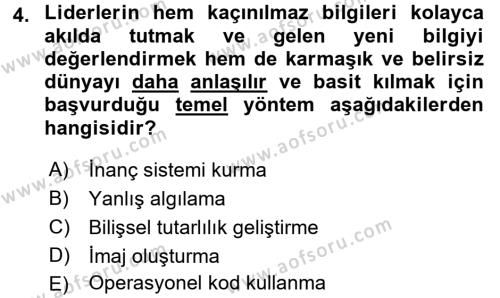 Diş Politika Analizi Dersi 2016 - 2017 Yılı (Vize) Ara Sınav Soruları 4. Soru
