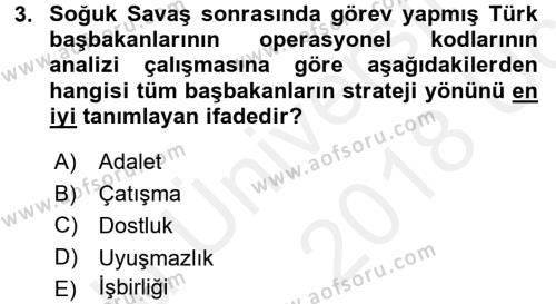 Diş Politika Analizi Dersi 2017 - 2018 Yılı 3 Ders Sınav Soruları 3. Soru