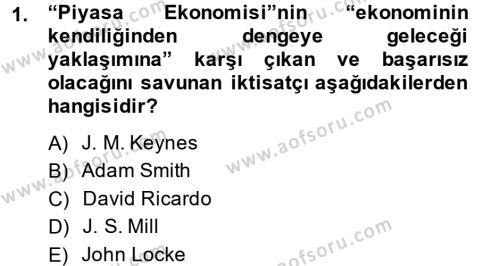 Uluslararası Ekonomi Politik Dersi 2013 - 2014 Yılı (Final) Dönem Sonu Sınav Soruları 1. Soru