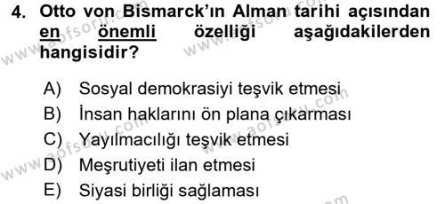 Türk Dış Politikası 1 Dersi 2016 - 2017 Yılı (Vize) Ara Sınav Soruları 4. Soru