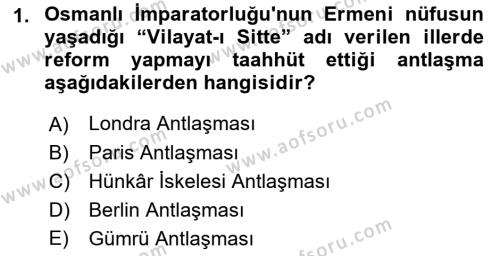 Türk Dış Politikası 1 Dersi 2018 - 2019 Yılı Yaz Okulu Sınav Soruları 1. Soru