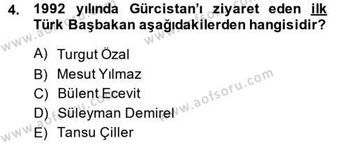 Türk Dış Politikası 2 Dersi 2014 - 2015 Yılı Tek Ders Sınav Soruları 4. Soru