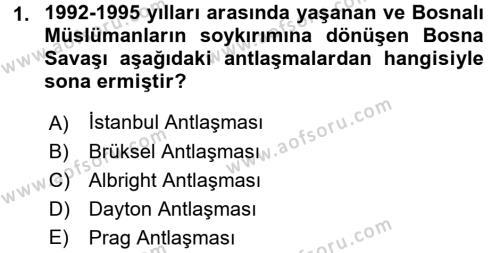 Türk Dış Politikası 2 Dersi 2015 - 2016 Yılı (Vize) Ara Sınav Soruları 1. Soru