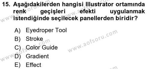 Web Grafik Tasarımı Dersi Ara Sınavı Deneme Sınav Soruları 15. Soru