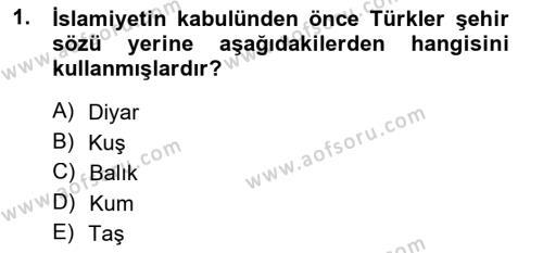 Emlak ve Emlak Yönetimi Bölümü 3. Yarıyıl Şehircilik Dersi 2014 Yılı Güz Dönemi Tek Ders Sınavı 1. Soru