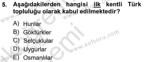 Emlak ve Emlak Yönetimi Bölümü 3. Yarıyıl Şehircilik Dersi 2014 Yılı Güz Dönemi Tek Ders Sınavı 5. Soru