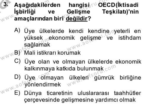 Emlak ve Emlak Yönetimi Bölümü 3. Yarıyıl Şehircilik Dersi 2015 Yılı Güz Dönemi Dönem Sonu Sınavı 3. Soru