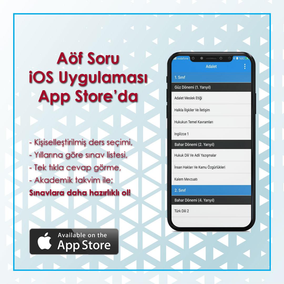 Aöf Soru iOS Uygulaması