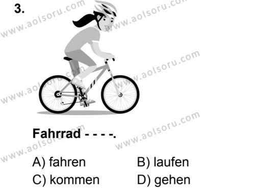 Almanca 2 Dersi 2019 - 2020 Yılı 1. Dönem Sınav Soruları 3. Soru