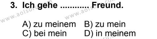 Almanca 3 Dersi 2013 - 2014 Yılı 3. Dönem Sınav Soruları 3. Soru