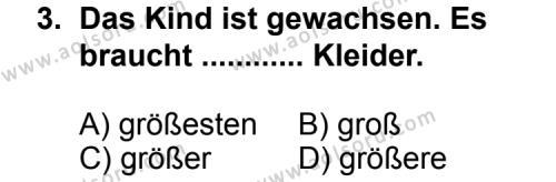 Almanca 5 Dersi 2011 - 2012 Yılı Ek Sınav Soruları 3. Soru