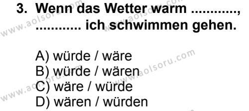 Almanca 6 Dersi 2013 - 2014 Yılı 3. Dönem Sınav Soruları 3. Soru