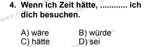 Almanca 6 Dersi 2013 - 2014 Yılı 3. Dönem Sınav Soruları 4. Soru