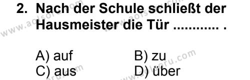 Almanca 8 Dersi 2011 - 2012 Yılı Ek Sınav Soruları 2. Soru