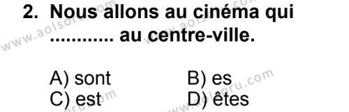 Fransızca 3 Dersi 2013 - 2014 Yılı 3. Dönem Sınav Soruları 2. Soru