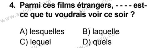 Fransızca 7 Dersi 2019 - 2020 Yılı 1. Dönem Sınav Soruları 4. Soru