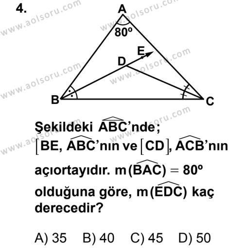 Geometri 4 Dersi 2013 - 2014 Yılı 3. Dönem Sınav Soruları 4. Soru