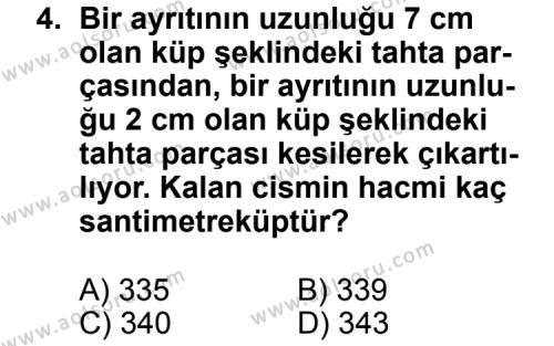 Geometri 7 Dersi 2013 - 2014 Yılı 3. Dönem Sınav Soruları 4. Soru