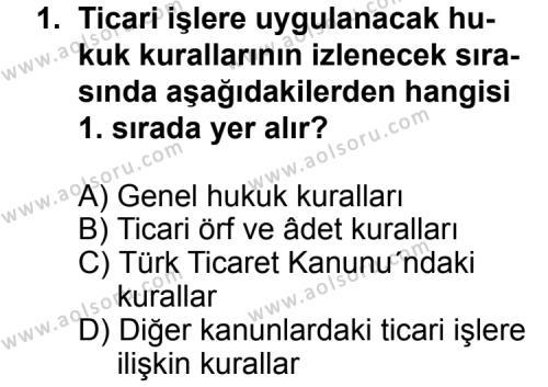 Hukuk 2 Dersi 2012 - 2013 Yılı 1. Dönem Sınav Soruları 1. Soru