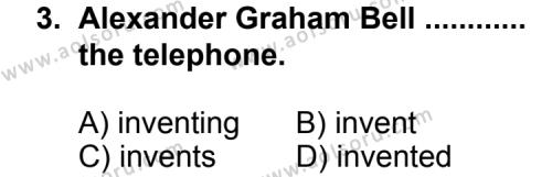 İngilizce 1 Dersi 2011 - 2012 Yılı Ek Sınav Soruları 3. Soru