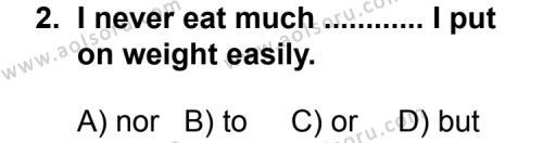 İngilizce 3 Dersi 2013 - 2014 Yılı 3. Dönem Sınav Soruları 2. Soru