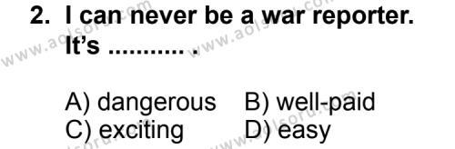İngilizce 7 Dersi 2012 - 2013 Yılı 2. Dönem Sınav Soruları 2. Soru