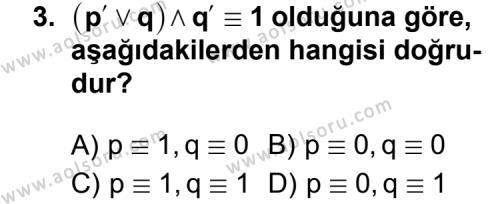 Matematik 1 Dersi 2011 - 2012 Yılı Ek Sınav Soruları 3. Soru