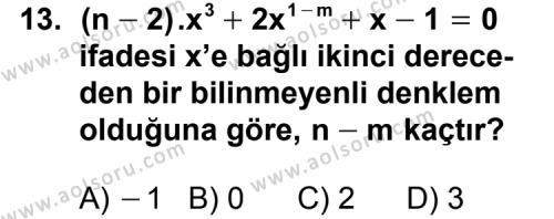 Matematik 3 Dersi 2011-2012 Yılı 1. Dönem Sınavı 13. Soru