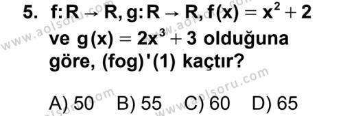 Seçmeli Matematik 4 Dersi 2014-2015 Yılı 1. Dönem Sınavı 5. Soru