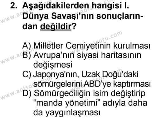 Seçmeli Çağdaş Türk ve Dünyası Tarihi 1 Dersi 2011 - 2012 Yılı Ek Sınav Soruları 2. Soru