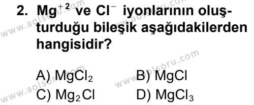 Seçmeli Kimya 3 Dersi 2011 - 2012 Yılı Ek Sınav Soruları 2. Soru