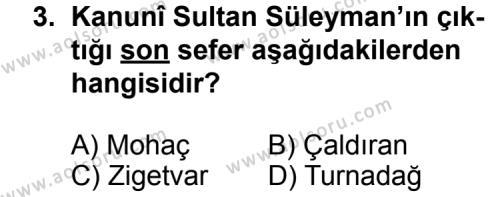 Seçmeli Tarih 3 Dersi 2013 - 2014 Yılı 3. Dönem Sınav Soruları 3. Soru