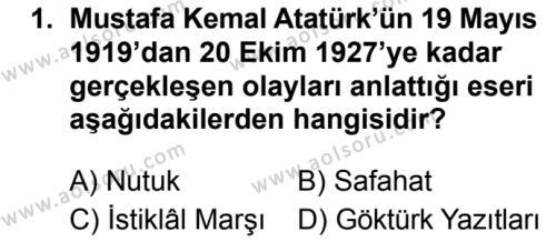 Seçmeli Türk Dili ve Edebiyatı 4 Dersi 2019 - 2020 Yılı 1. Dönem Sınav Soruları 1. Soru