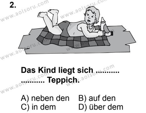 Seçmeli Yabancı Dil Almanca 3 Dersi 2013 - 2014 Yılı 3. Dönem Sınav Soruları 2. Soru