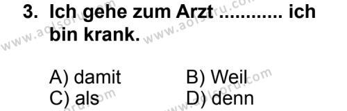 Seçmeli Yabancı Dil Almanca 7 Dersi 2011 - 2012 Yılı Ek Sınav Soruları 3. Soru