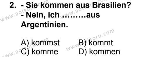 Seçmeli Yabancı Dil Almanca 8 Dersi 2011 - 2012 Yılı Ek Sınav Soruları 2. Soru