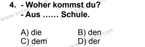 Seçmeli Yabancı Dil Almanca 8 Dersi 2011 - 2012 Yılı Ek Sınav Soruları 4. Soru