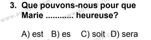 Seçmeli Yabancı Dil Fransızca 6 Dersi 2013 - 2014 Yılı 2. Dönem Sınav Soruları 3. Soru