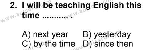 Seçmeli Yabancı Dil İngilizce 6 Dersi 2014 - 2015 Yılı 1. Dönem Sınav Soruları 2. Soru