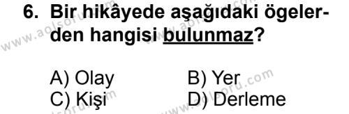 Türk Edebiyatı 2 Dersi 2014-2015 Yılı 1. Dönem Sınavı 6. Soru